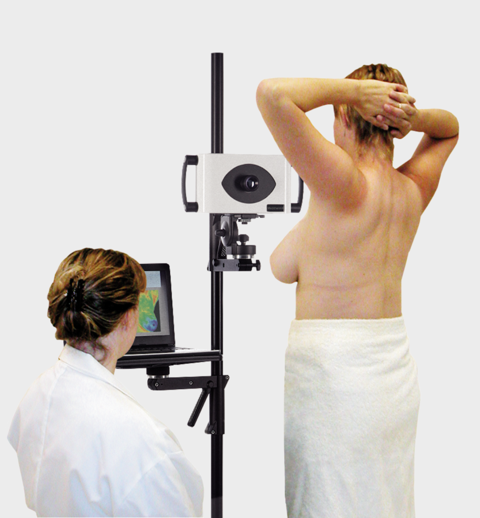 Lady thermography breast screening